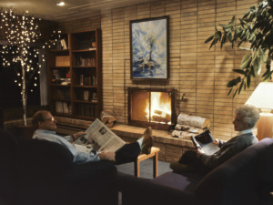 Relaxing in the lobby at The Shoreline Inn.