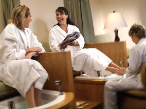 Spa pedicure at Fairmont Le Chateau Montebello.