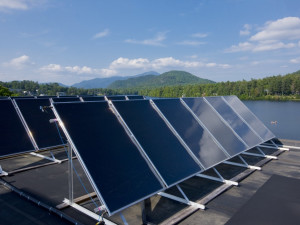 Our Solar Thermal Panels help heat our pool!