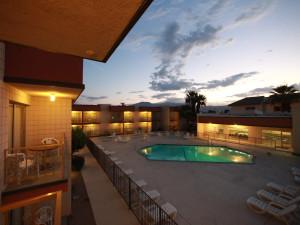 Balcony view at Royal Plaza Inn.