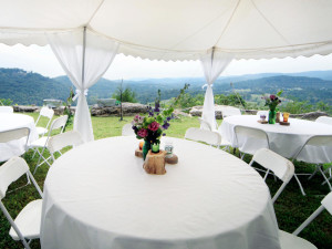 Wedding reception at Can-U-Canoe Riverview Cabins.