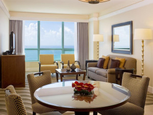 Guest suite at The Westin Diplomat Resort.