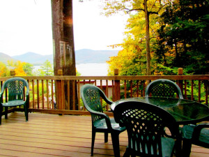 Cabin deck at Contessa Resort.
