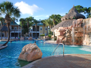 Outdoor pool at Purple Parrot Perdido Key.