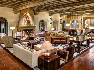 The lobby at The Fairmont Sonoma Mission Inn & Spa.