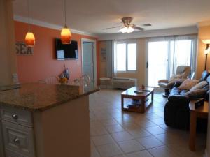 Condominium living room at Dolphin Run Condominiums.