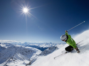 Skiing near Andes Hotel and Restaurant.