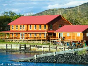 Exterior view of Alaska's Kodiak Island Resort.