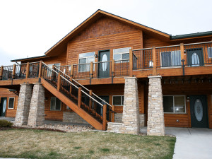 Chalet exterior at Timber Creek Chalets.
