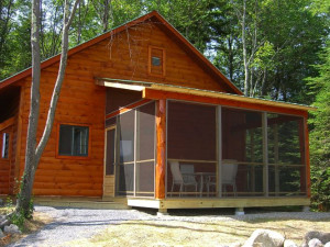 Cabin Exterior at Robert Frost Mountain Cabins