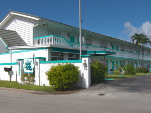 Exterior view of The Boat House Motel.
