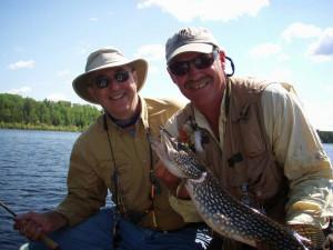 Fishing at Moose Track Adventures Resort.