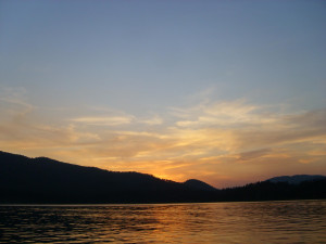 Sunset at Lake Pactola near Summer Creek Inn & Spa.