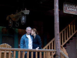 Couple at Hisega Lodge.
