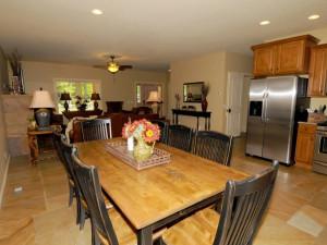 Cabin kitchen at Caryonah Hunting Lodge.