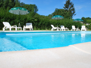 Outdoor pool at Domaine Vallée Heureuse.