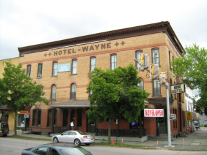 Exterior View of the Hotel Wayne