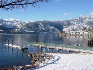 Fishing pier at Mountain View Lodge.