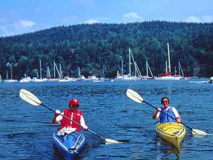 Kayaking near Bar Harbor Villager.