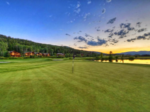 Teton Springs Resort golf course near South Fork Lodge.