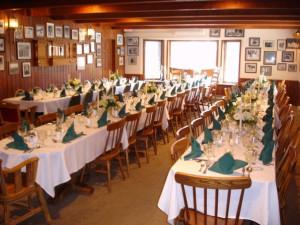 Reception at Kandahar Lodge.