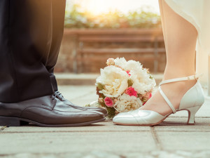 Wedding couple at Tanglewood Resort and Conference Center.