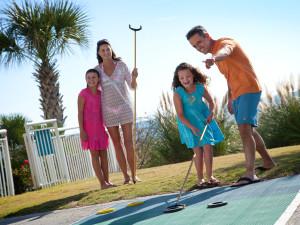 Shuffle board at Paradise Resort.