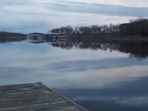 Lake view at Calm Waters Resort.