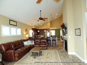Rental kitchen living room at Central Reservations.