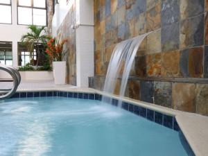 Pool waterfall at Quality Inn Boardwalk Ocean City.