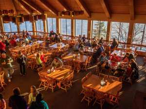 Dining room at YMCA Trout Lodge & Camp Lakewood.