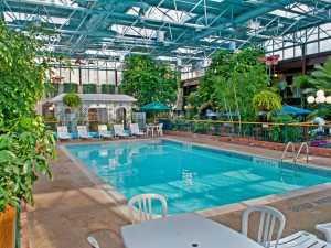 Tropical courtyard pool atCairn Croft Best Western Plus Hotel.
