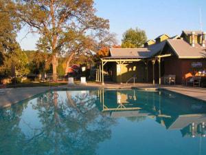 Outdoor pool at Greenhorn Creek Resort.