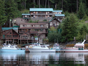 Exterior view of portsman's Cove Lodge.