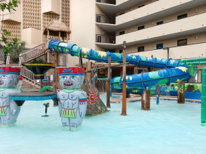 Outdoor water park at Ocean Reef Resort.