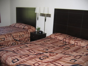 Guest room at Nichols Inn & Suites.