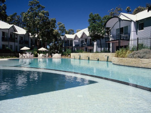 Outdoor pool at Mandurah Quay Resort.