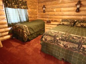 Guest bedroom at Zippel Bay Resort.