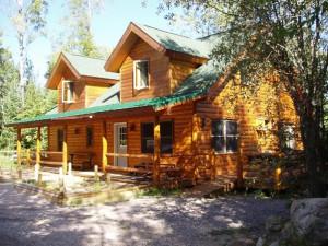 Cabin exterior at Timber Trail Lodge & Resort.