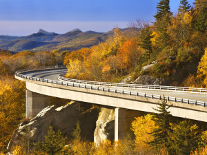 The Blue Ridge Parkway near Chetola Mountain Resort.