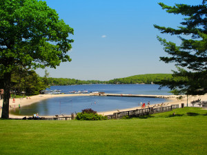 The beach at Split Rock Resort & Golf Club.