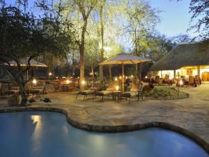 Outdoor pool at Etosha Aoba Lodge.