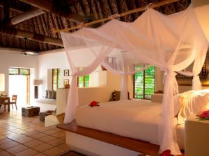 Guest room at Vatulele Island Resort Fiji.