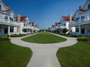 Suite courtyard at Blue Harbor Resort & Spa.
