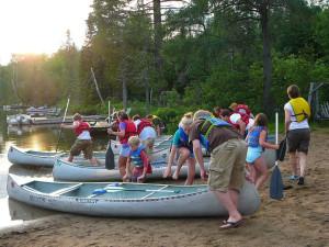 Canoe trips at Bearskin Lodge.