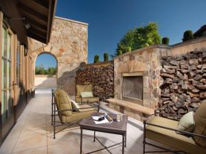 Spa patio at Villagio Inn and Spa.