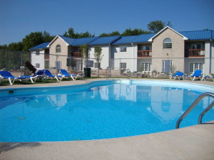 Outdoor pool at Put-in-bay Condos.