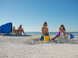 The beach at Guy Harvey Outpost.