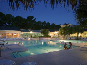 Outdoor pool at Sea Trail Resort.