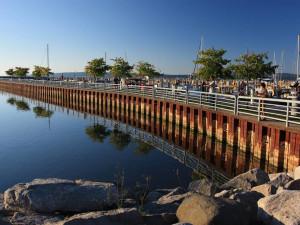 Shoreline near Trout Creek Condominium Resort.